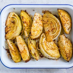 Lemon Roasted Green Cabbage Recipe