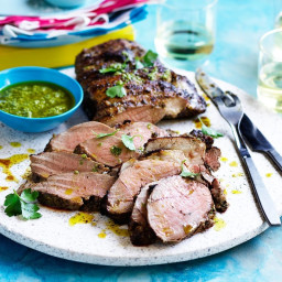 Lemon, rosemary and anchovy marinated lamb