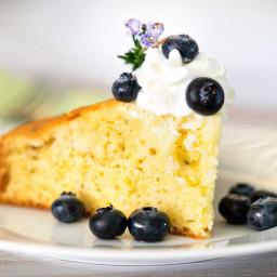 Lemon Rosemary Cake with Blueberries