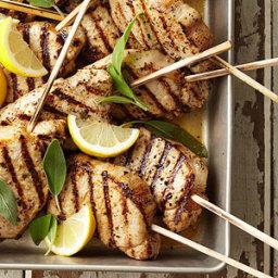 Lemon-Sage Pork Chops on a Stick