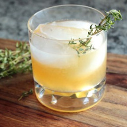 Lemon Thyme Bourbon Cocktail