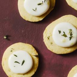 Lemon Thyme Coin Cookies