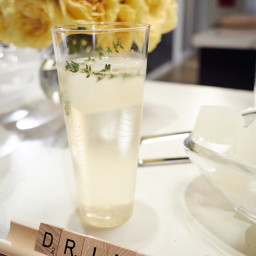 Lemon-Thyme Prosecco Cocktail