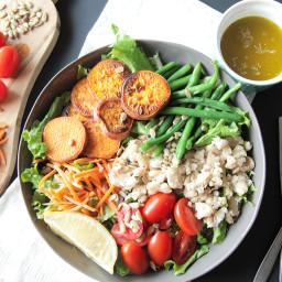 Lemon Thyme White Bean Salad (Vegan + Gluten Free)