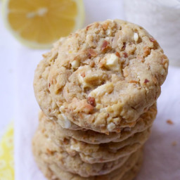 Lemon White Chocolate Chunk Cookies with Toasted Coconut