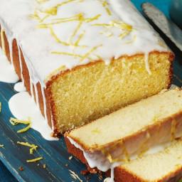 Lemon yoghurt loaf with yoghurt drizzle