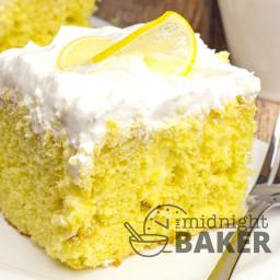 Lemonade Cream Poke Cake