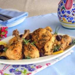 Lemon and Olive Ligurian Pressure Cooker Chicken Recipe