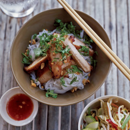 Lemongrass-Barbecued Pork with Rice-Vermicelli Salad