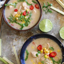 Lemongrass Basil Chicken Soup