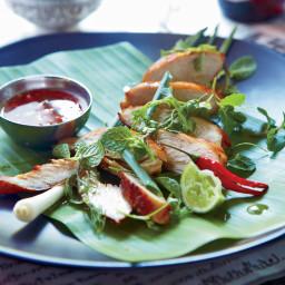 Lemongrass-Cilantro Chicken with Honey Dipping Sauce