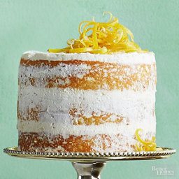Lemon Olive Oil Cake with Lemon Cream