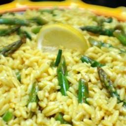 Lemon Orzo with Asparagus