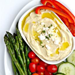 Lemon & Roasted Garlic Hummus Recipe