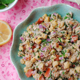 Lemony Chickpea and Tuna Salad