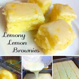 Lemony Lemon Blondies