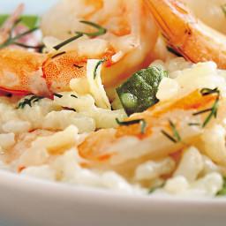 Lemony Shrimp and Asparagus Risotto