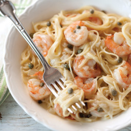Lemony Shrimp and Caper Pasta