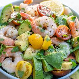 Lemony Shrimp, Avocado & Tomato Salad