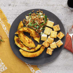 Lemony Tofu (from Plated, with wheat berries, squash)