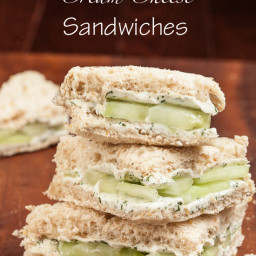Lemony Cucumber Cream Cheese Sandwiches