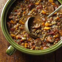 Lentil and Chicken Sausage Stew Recipe