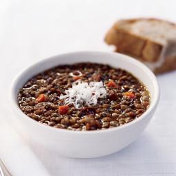 Lentil and Garlic-Sausage Soup