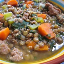 lentil and sausage stew
