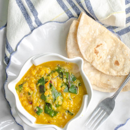 Lentil Dal with Hearty Greens