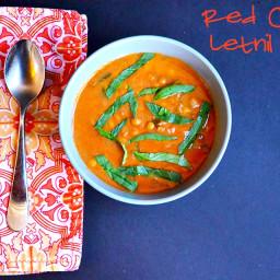 Lentil Red Curry & Coconut Milk Soup [Vegan/Gluten Free]