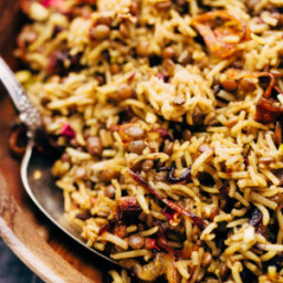 Lentil Rice Pilaf with Caramelized Onions (Mujadara)