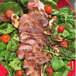 Lentil Salad with Pork Tenderloin