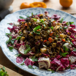 Lentil Salad With Roasted Vegetables