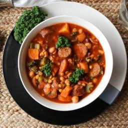 Lentil Sausage Soup Healthy Choice Crock Pot Recipe
