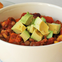 Lentil Sweet Potato Chili