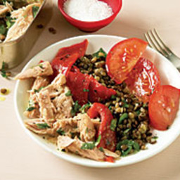 Lentil, Tuna, and Roasted Pepper Salad