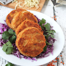 Lentil and Cheese Burgers