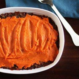 Lentil, Mushroom  and  Sweet Potato Shepherd's Pie