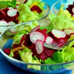 Lettuce and Beets Radish Salad