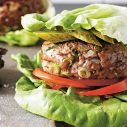 Lettuce Burger & Eggplant Chips