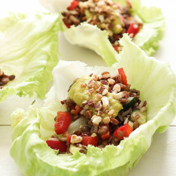 Lettuce Cups with Lentils and Rice