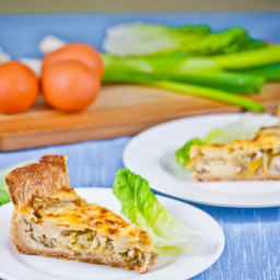 Lettuce, Spring Onion and Cheese Tart