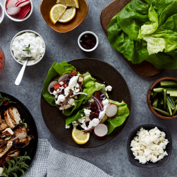 Lettuce Wrapped Chicken Souvlaki {Paleo and Gluten-free with Dairy-free opt