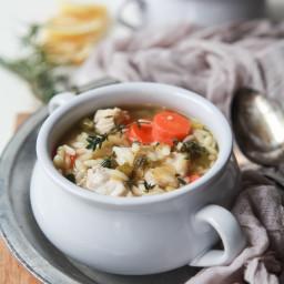Light Lemon Chicken Orzo Soup