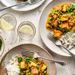 Light paneer curry