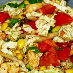 Light salad with lemon chicken