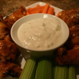 Lighter Bake-fried Buffalo Wings
