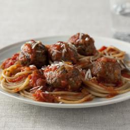 Lighter Spaghetti and Meatballs