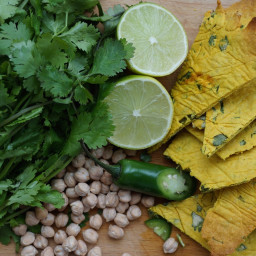 Lime and Cilantro Chickpea Crackers