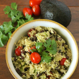 Lime Black Bean Quinoa Salad